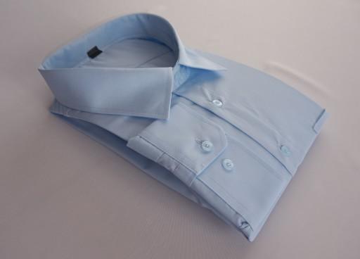 Koszula Męska niebieska dł ręk regular 52182 188 8109708018  a6q6b