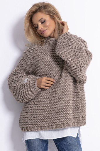 Sweter Gruby Oversize Kardigan Cieply Mocca S M 8681067849 Allegro Pl