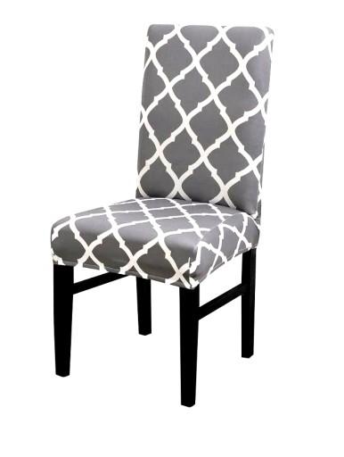 Pokrowiec Na Krzeslo Elastyczny Szary Marokanski 7904831520 Allegro Pl