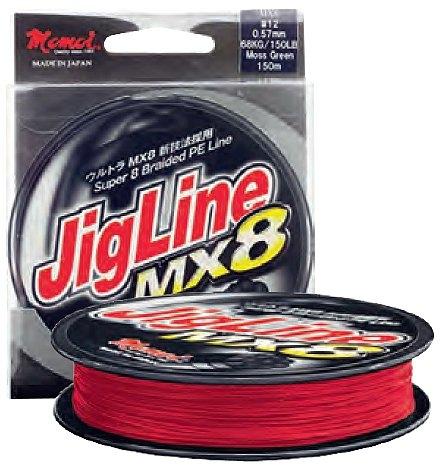 Plecionka Momoi JigLine MX8 0,18mm 150m czerwona