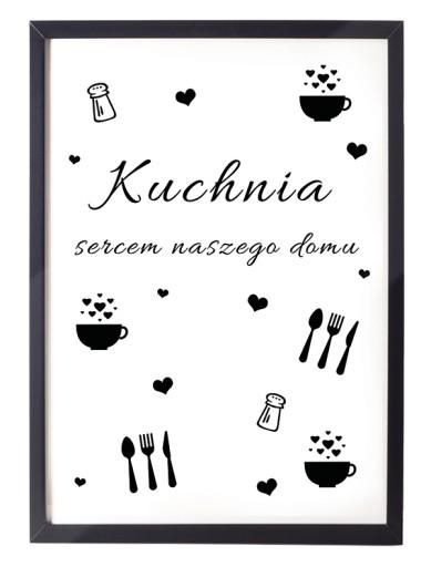 Plakat Do Kuchni Pokoju Biura A4 Czarna Rama