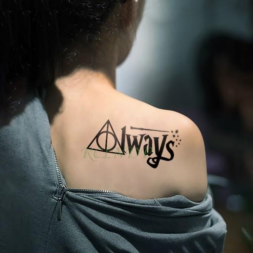Tatuaż Harry Potter Always Hermiona Hogwart Snape