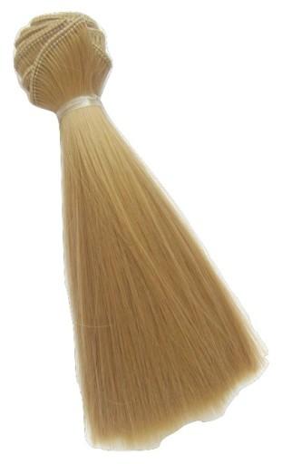1szt włosy dla lalek, wig 15cm blond