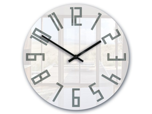 Zegar ścienny ModernClock SLIM Biało - Szary CICHY