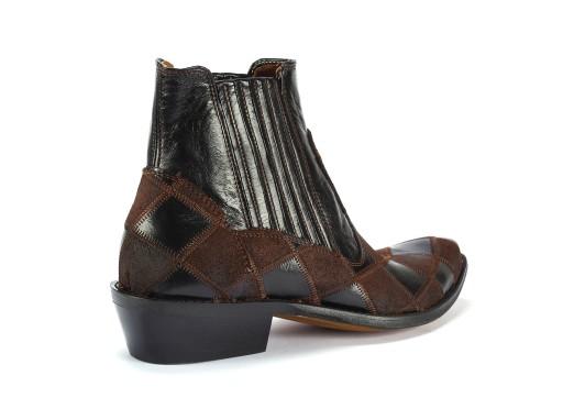 46Scarpe-esclusive modne kowbojki brązowe skórzane 9175878446