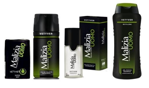 MALIZIA Uomo Vetyver pełny kosmetyków dla mężczyzn