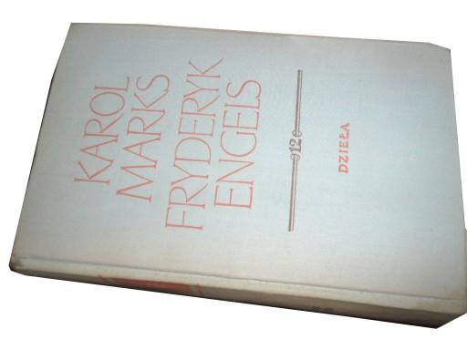 KAROL MARKS FRYDERYK ENGELS Dzieła tom 12