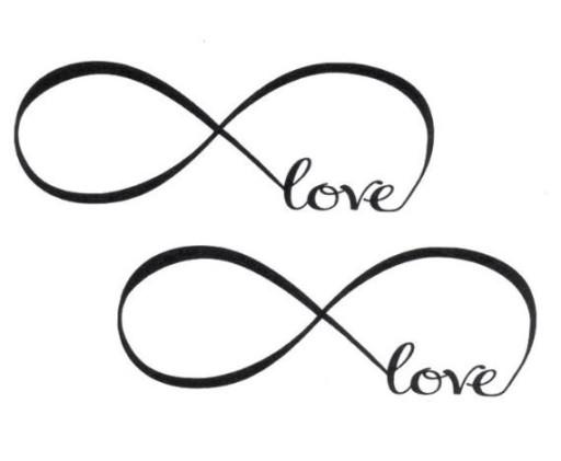 Znak Nieskończoność Infinity Tatuaż Napis Love 111