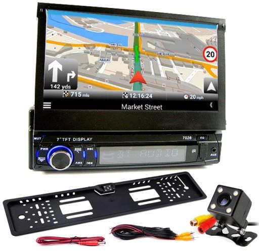 Radio Samochodowe 7 Wysuwany Ekran Gps Mapa Europy 7261094322 Sklep Internetowy Agd Rtv Telefony Laptopy Allegro Pl