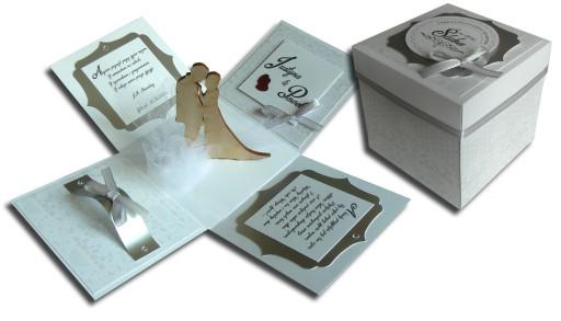 Nietypowy Okaz EXPLODING BOX ślub prezent ślubny KARTKA PUDEŁKO 7475009935 VW12