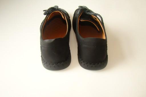 Buty męskie skórzane mokasyny IROKEZ czarne r. 42 9217304913