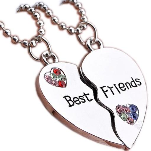 Naszyjnik Wisiorek Przyjazni Best Friends Serce X2 8684352551 Allegro Pl