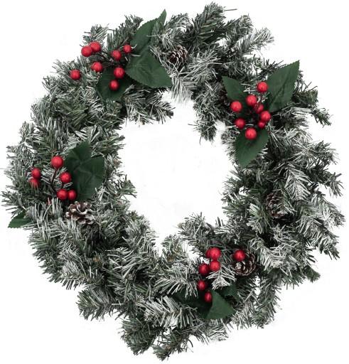 Girlanda świąteczna okrągła wieniec 50cm stroik