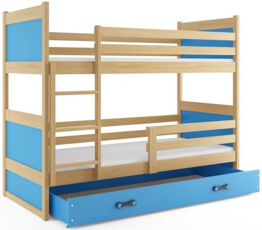 łóżko Piętrowe Dziecięce Rico 190x80 Stelaż