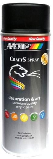 CRAFTS LAKIER Czarny MAT 9005 Akryl farba SPRAY
