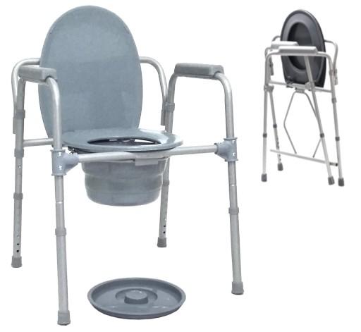 Krzesło toaletowe składane przenośne WC sanitarne