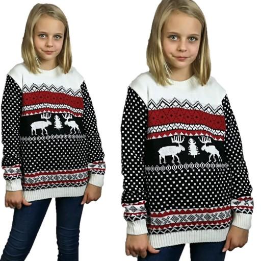 Dzieciecy Sweter Swiateczny Z Reniferem 5 6 Lata 7702144290 Allegro Pl