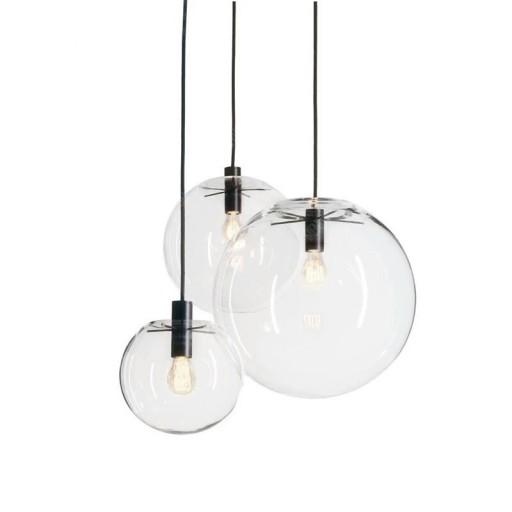 Lampa sufitowa nowoczesna wisząca szklana do LED