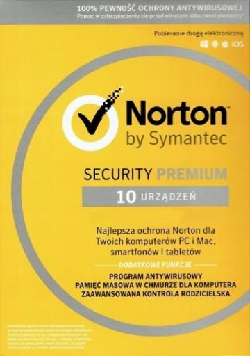 Norton Security Premium PL 2019/2lata/10PC+VPN