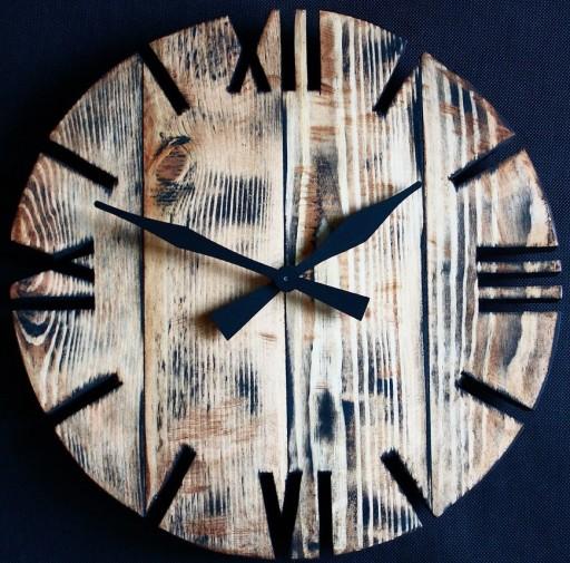 Zegar OldStyle2 rustic porwansalski loft duży 60cm