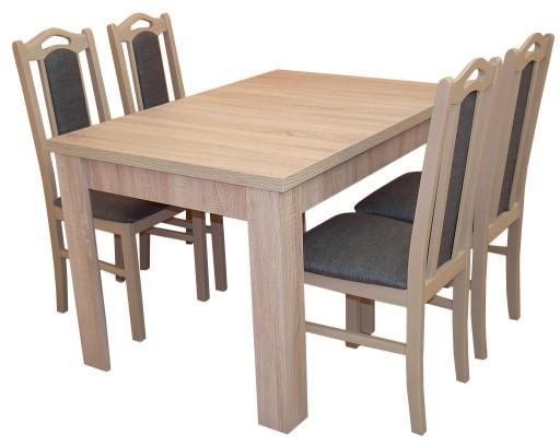 Zestaw Mały Stolik 4 Drewniane Krzesła