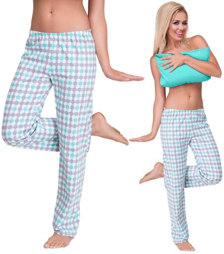 Damskie Wygodne Dlugie Spodnie Do Spania Pizama S 8578440382 Allegro Pl