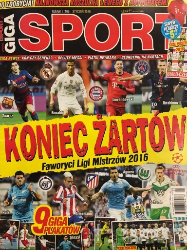 1 2016 Giga Sport Suarez Ronaldo Lewandowski Hulk 3 59 Zl Allegro Pl Raty 0 Darmowa Dostawa Ze Smart Warszawa Stan Nowy Id Oferty 8550998637