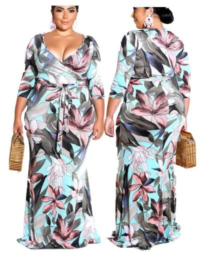 Sukienka pastelowa długa letnia w kwiaty 9026 46