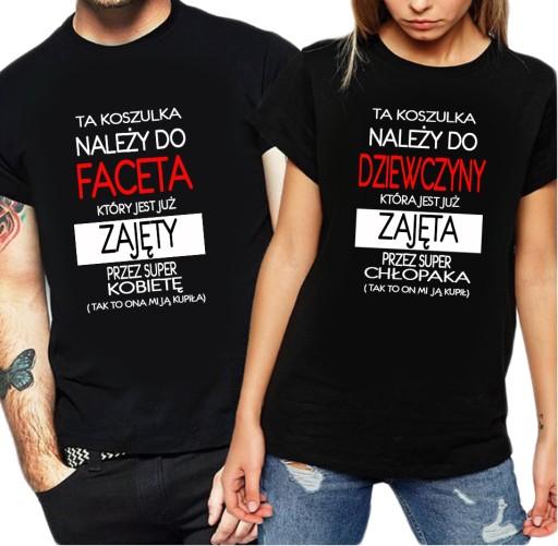 Koszulka Na Walentynki Dla Par Na Prezent W 12 8910570285 Allegro Pl