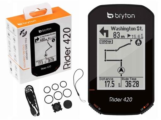 KOMPUTER ROWEROWY GPS NAVI BRYTON RIDER 420E WI-FI