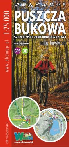MAPA TURYSTYCZNA PUSZCZA BUKOWA 1:25000 SPK GPS 3D