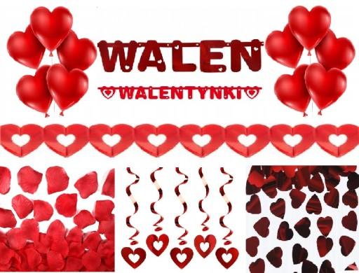 Dekoracja Zestaw Na Walentynki Balony Serca 7801912937 Allegropl