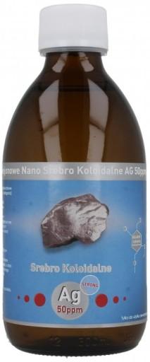 SREBRO KOLOIDALNE NANO 50ppm MOCNE STRONG 300ml