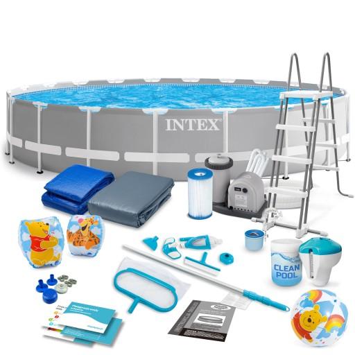 Basen Stelazowy Ogrodowy Intex 610x132 Zestaw 21w1 8903455790 Allegro Pl