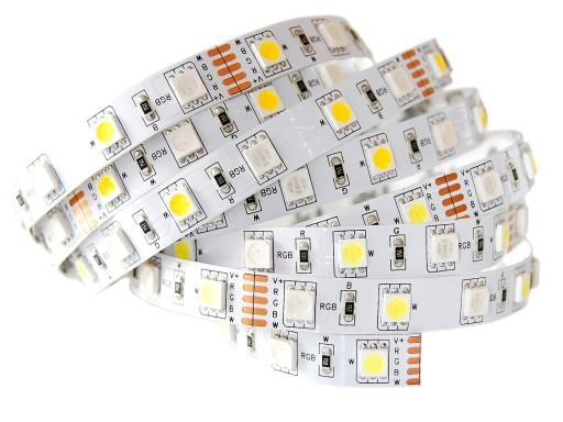 Taśma LED RGBW 5m 300D kolor Biała CIEPŁA 5050 72W