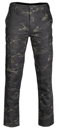 SPODNIE WOJSKOWE taktyczne SLIM MULTITARN BLACK L 9076515495 Odzież Męska Spodnie PQ RBWXPQ-2