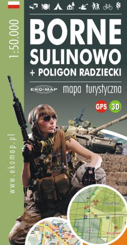 MAPA BORNE SULINOWO + POLIGON RADZIECKI GPS 3D
