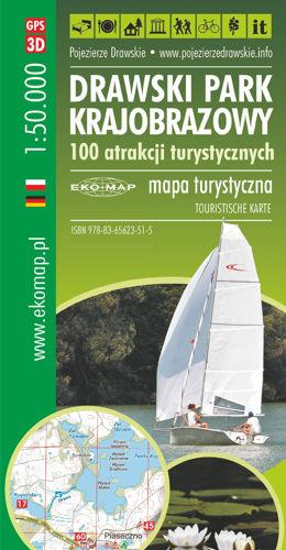 MAPA 100 ATRAKCJI DRAWSKI PARK KRAJOBRAZOWY 2020