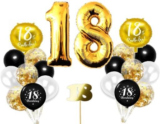 Balony Zestaw Na Osiemnastke 18 Urodziny 8309980325 Allegro Pl