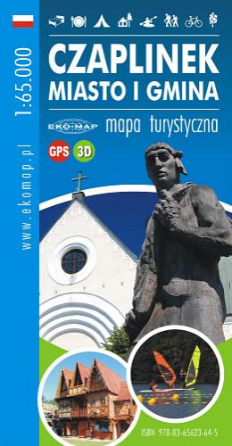 MAPA TURYSTYCZNA CZAPLINEK MIASTO I GMINA 3D GPS