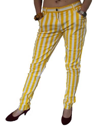 JOHN BANER stylowe spodnie rurki SLIM LEG 134 cm