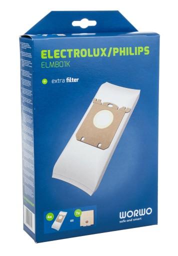 WORKI DO ODKURZACZA ELECTROLUX E201B 16SZT + HEPA