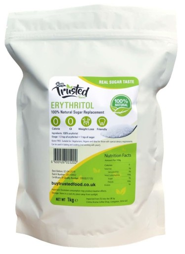 Erytrol Erytrytol słodzik cukier 1kg naturalny