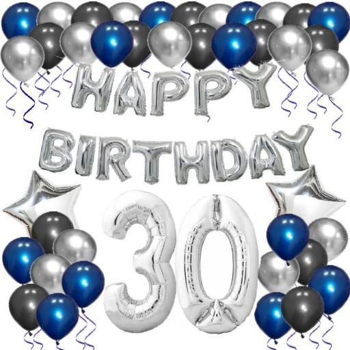 Balony Zestaw Na 30 Urodziny Osiemnastka Cyfra 8309845149 Allegro Pl
