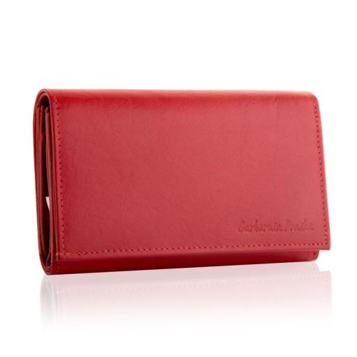 Skórzany portfel damski duży Garbarnia Praska