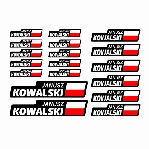 Naklejki Na Rower Motor Kask Flaga Imie Nazwisko 7704835766 Allegro Pl