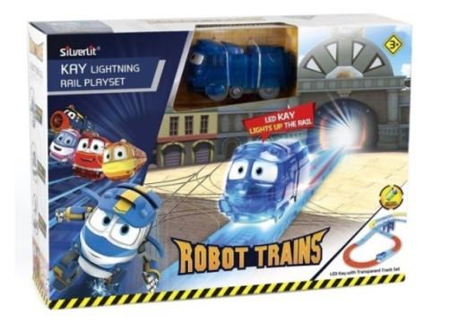 Robot Trains Kay Świecący Tory Ciuchcia Pociąg