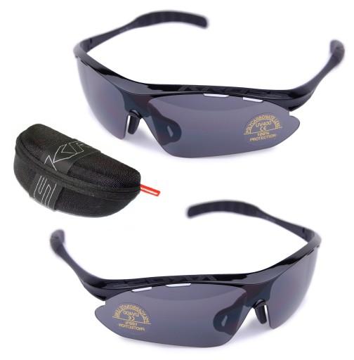 Okulary rowerowe KROSS SX-B SFERYCZNE UV400 BLACK