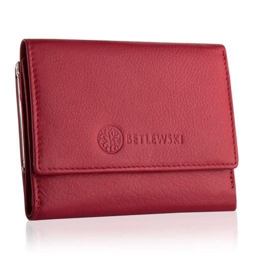 985f3d1572ca3 Mały portfel damski skórzany bigiel BETLEWSKI RFID 7151770704 ...