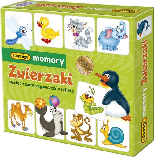 4a833d01ac5c73 Memory Zwierzaki Pamięciowa Memo Pamięć Adamigo 7830989817 - Allegro.pl